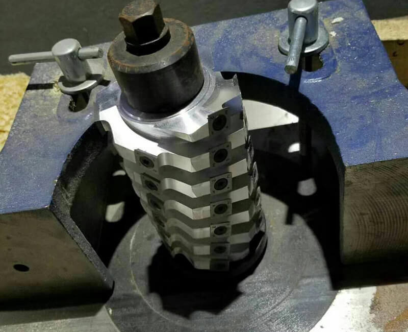 Spiral Cutter Head for Vertical Machine