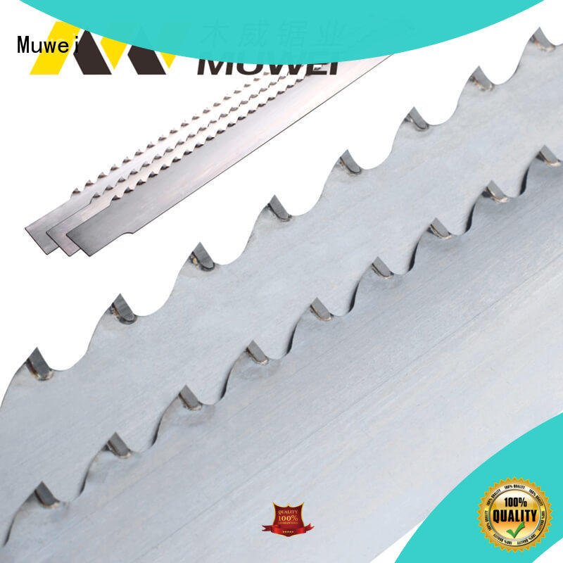 hot sale woodworking band saw blades wholesale for frozen food processing plants Muwei