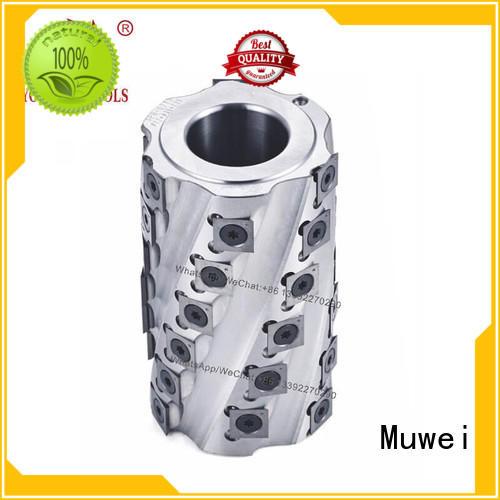 Muwei cutterhead spiral Cutter Head TCT inserts factory direct for four side moulder