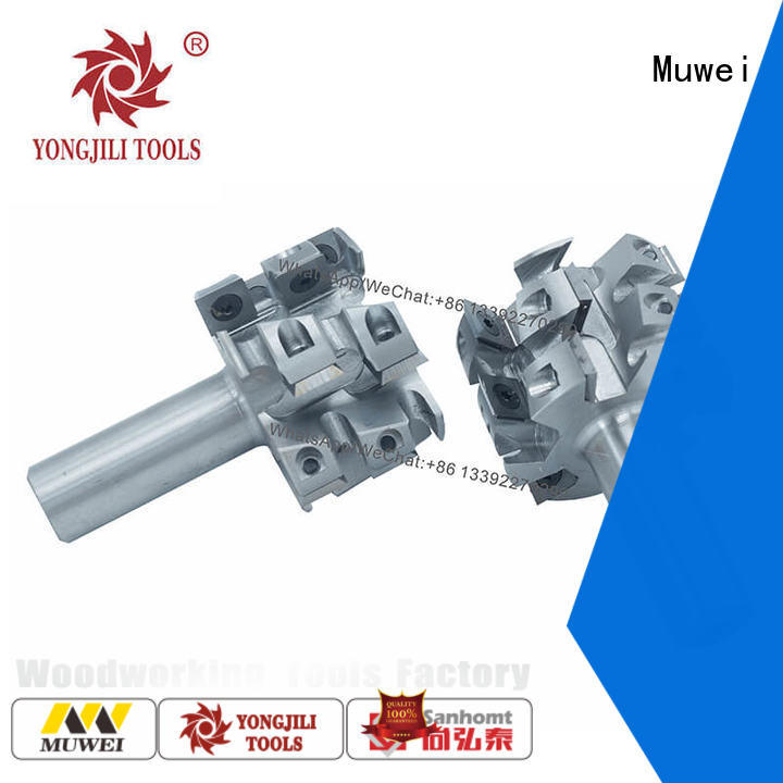 Muwei professional spiral Cutter Head TCT inserts factory direct for four side moulder