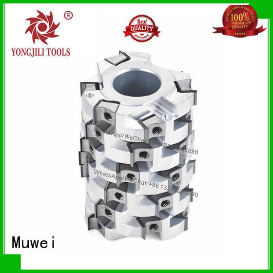 spiral cutter head machinery Muwei Brand helical cutterhead