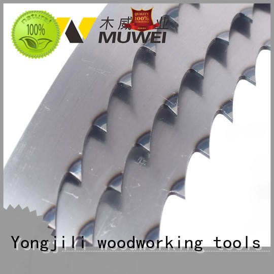 Muwei hard curve 10 inch band saw blades factory direct for frozen food processing plants