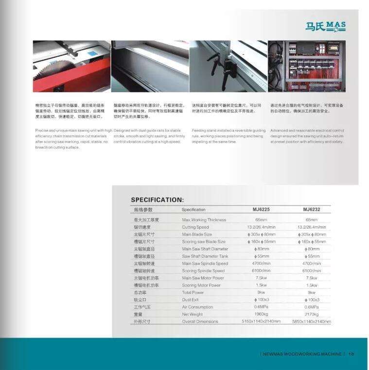 carbide alloy beam saw machine manufacturer for furniture Muwei-3