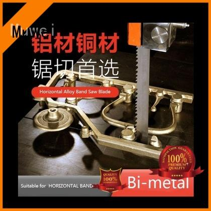 Muwei steel 80 inch band saw blade metal cutting supplier for frozen food processing plants