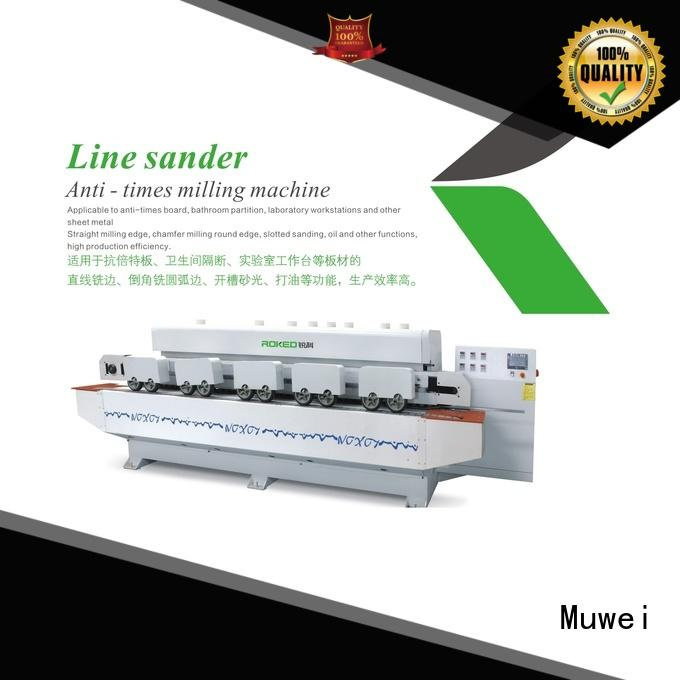 Muwei super tough mortise and tenon joint machine stellite alloy for frozen food processing plants
