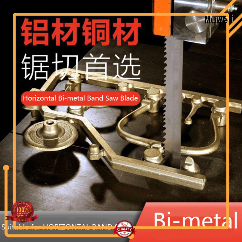 Muwei carbide alloy carbide band saw blade supplier for frozen food processing plants