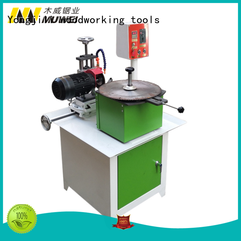 four axis gear grinding machinery double side angle gear for wood sawing Muwei