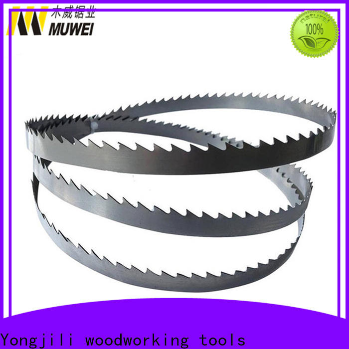 Muwei stellite alloy steel cutting band saw blades wholesale for wood sawing