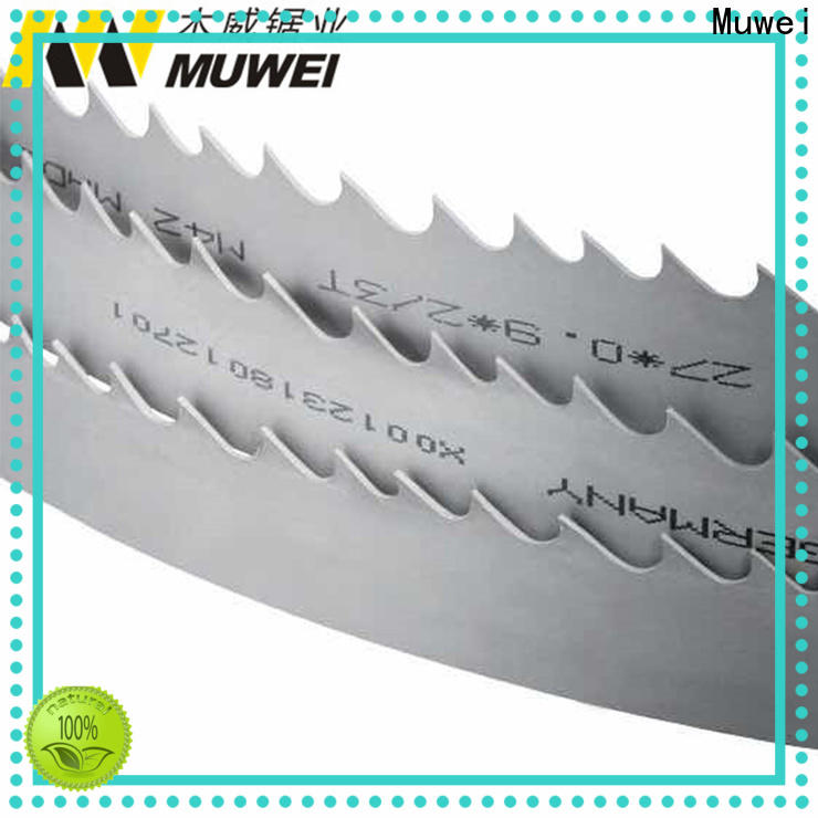 Muwei hard curve best band saw blades wholesale for wood sawing