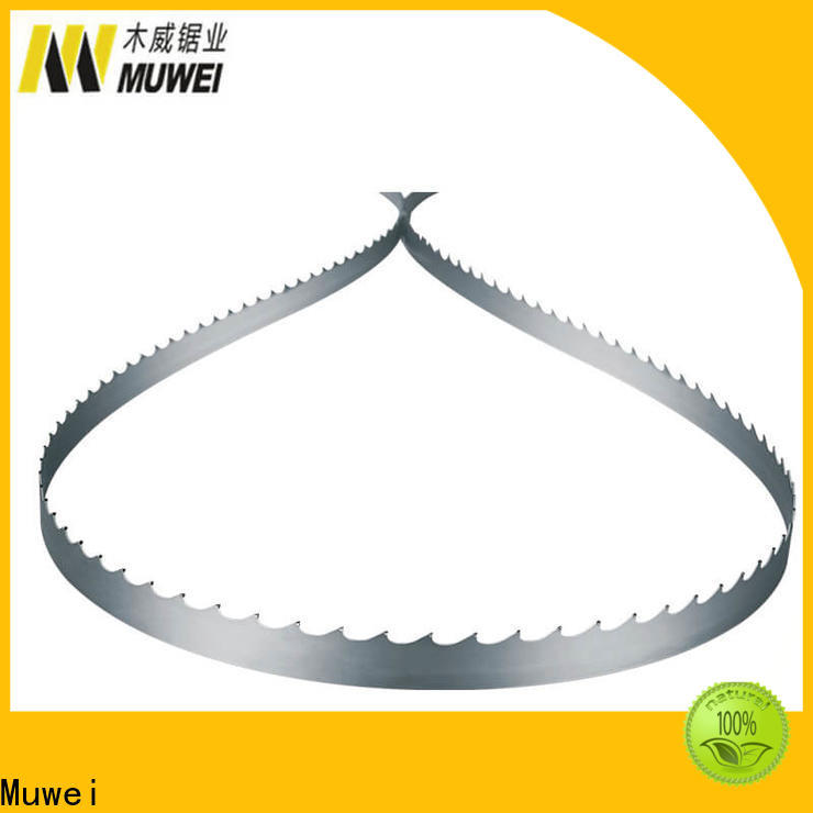 Muwei durable craftsman band saw blades 80 inch factory direct for frozen food processing plants