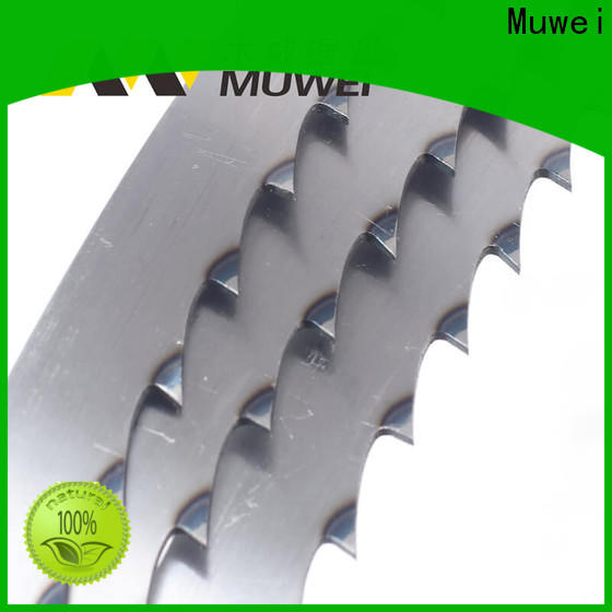 Muwei hot sale 80 inch band saw blade manufacturer for frozen food processing plants