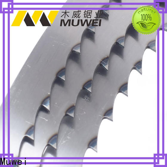 Muwei hot sale 10 inch band saw blades supplier for frozen food processing plants