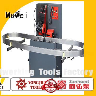 Muwei steel table top belt sander manufacturer for wood sawing