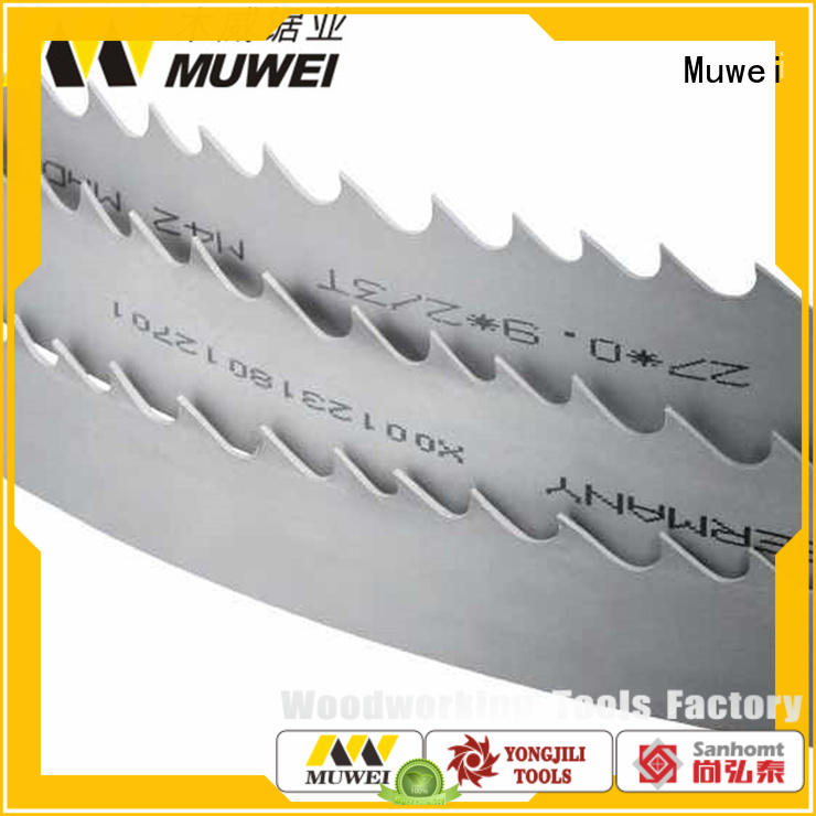 durable wood cutting band saw blades manufacturer for frozen food processing plants Muwei